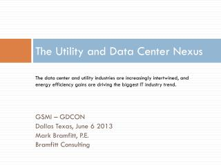 The Utility and Data Center Nexus