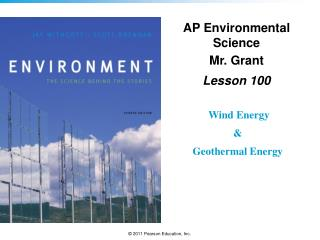 AP Environmental Science Mr. Grant Lesson  100