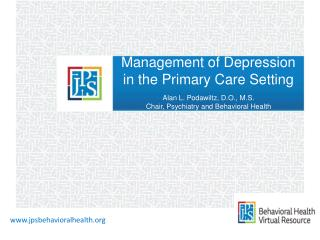 Management of Depression in the Primary Care Setting