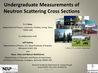 Undergraduate Measurements of  Neutron Scattering Cross  Sections