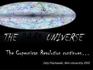 THE  DARK  UNIVERSE