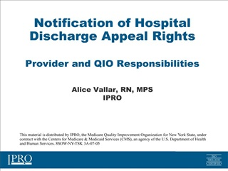 notification of hospital discharge appeal rights    provider and qio responsibilities