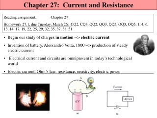 Chapter  27:  Current and Resistance