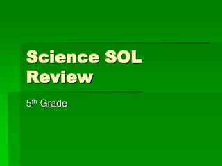 Science SOL Review