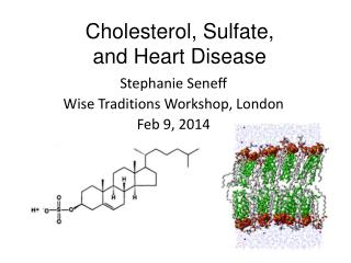 Cholesterol,  Sulfate,  and Heart Disease