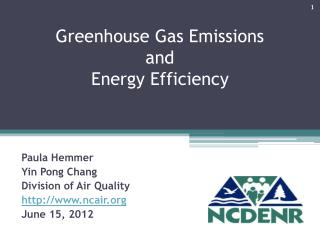 Greenhouse Gas Emissions  and  Energy Efficiency
