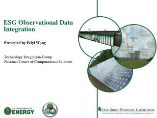 ESG Observational Data Integration