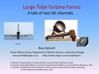 Large Tidal Turbine Farms: