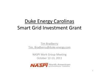 Duke Energy Carolinas Smart Grid Investment Grant