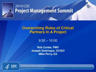 Overarching Roles of Critical Partners In A Project