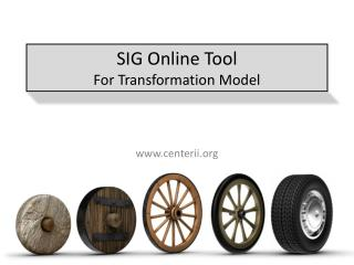 SIG Online Tool For Transformation Model