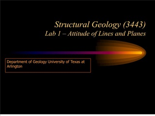 structural geology 3443 lab 1   attitude of lines and planes