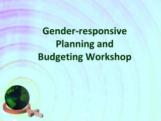Gender-responsive Planning and Budgeting Workshop