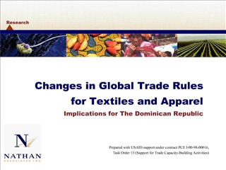 changes in global trade rules  for textiles and apparel implications for the dominican republic