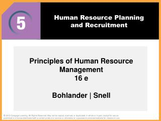 Human Resource Planning and Recruitment