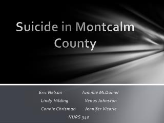 Suicide in Montcalm County