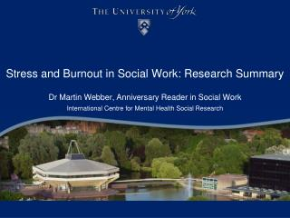 Stress and Burnout in Social  W ork: Research Summary