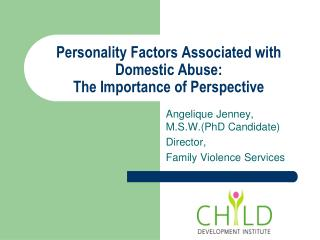 Personality Factors Associated with Domestic Abuse:   The Importance of Perspective