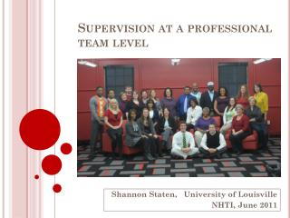 Supervision at a professional team level