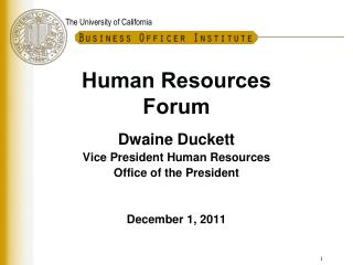 Human Resources Forum