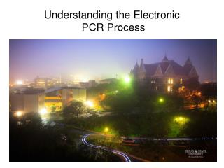Understanding the Electronic  PCR Process