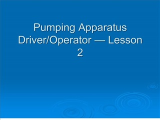 pumping apparatus driver
