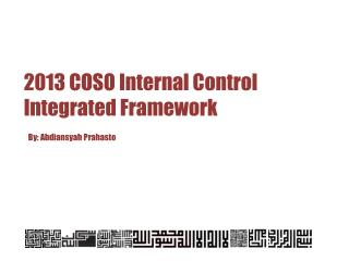 2013 COSO Internal Control Integrated Framework