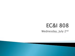 EC&I 808