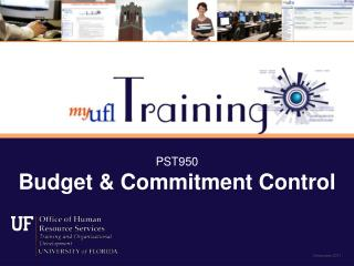 PST950 Budget & Commitment Control