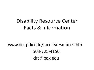 Disability Resource Center Facts & Information