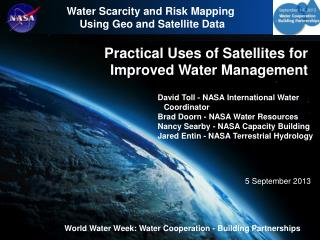 Practical Uses of Satellites for Improved Water Management