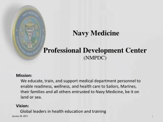 Navy Medicine Professional Development Center (NMPDC)