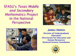SFASU's  Texas Middle and Secondary Mathematics  Project in  the National Perspective