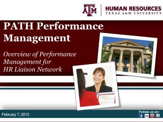 PATH Performance Management Overview of Performance Management for  HR Liaison Network