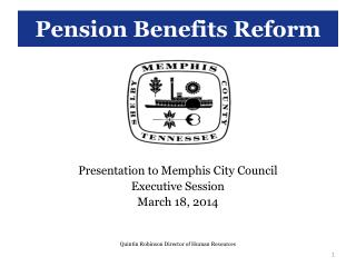 Pension Benefits Reform