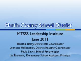 Martin County School District