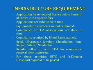 INFRASTRUCTURE REQUIREMENT