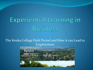 Experiential Learning in Business