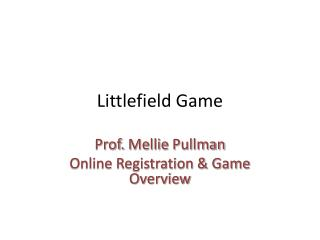 Littlefield Game