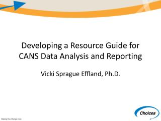 Developing a Resource Guide for CANS Data Analysis and Reporting