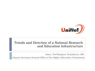 Trends and Direction of a National Research and Education Infrastructure