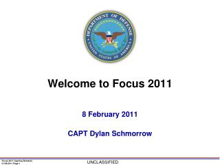 Welcome to Focus 2011