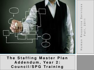 The Staffing Master Plan Addendum, Year 2: Council/SPG Training