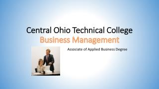 Central Ohio Technical College Business Management