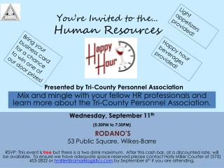 You're Invited to the... Human Resources