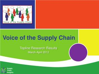 Voice of  the Supply Chain
