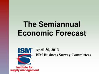 The Semiannual Economic Forecast