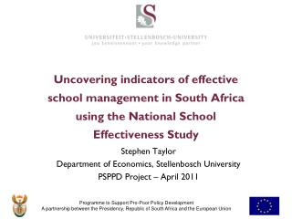 Uncovering indicators of effective school management in South Africa using the National School Effectiveness Study