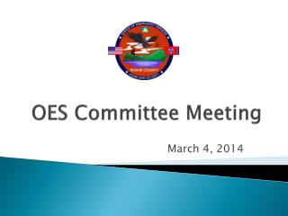 OES Committee Meeting