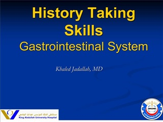 history taking skills gastrointestinal system